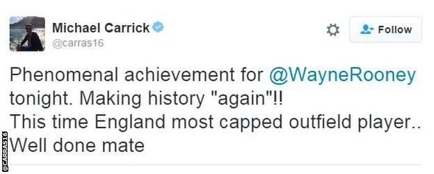 Michael Carrick tweet