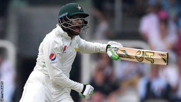 Imam-ul-Haq celebrates Pakistan's victory