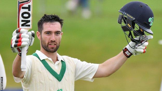 Andrew Balbirnie scored his first Test hundred against the Netherlands