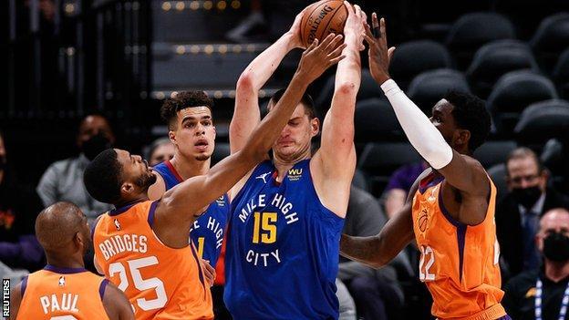 NBA Most Valuable Player Nikola Jokic under pressure