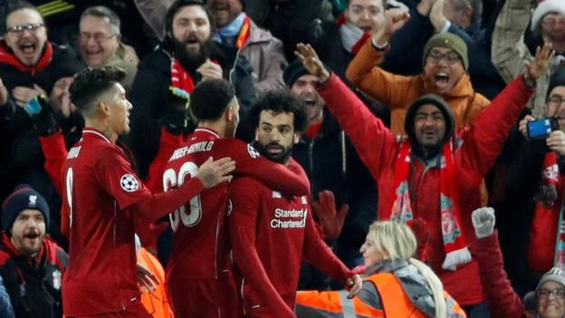 Liverpool 1-0 Napoli: Salah scores as Reds reach Champions League knockout stage thumbnail