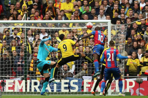 Crystal Palace score against Watford