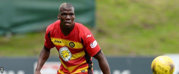 Mathias Pogba came on for his Thistle debut