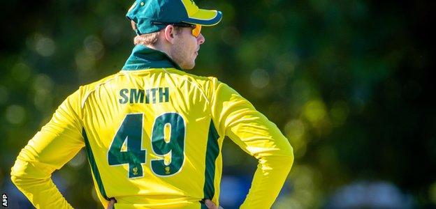 Steve Smith in the field