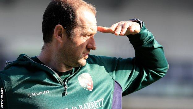 Leicester Tigers head coach Geordan Murphy