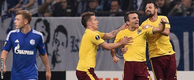 Sparta Prague v Schalke in the Europa League