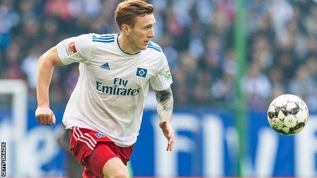 David Bates has made 11 appearances this season for Hamburg