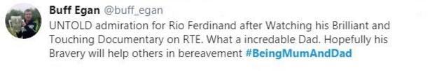 Rio Ferdinand's Being Mum and Dad won a Bafta
