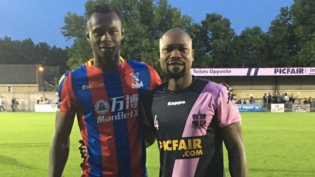 Ibrahim Kargbo Junior (left) and his father Ibrahim Kargbo