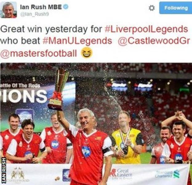 Ian Rush on Twitter