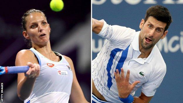 Karolina Pliskova and Novak Djokovic