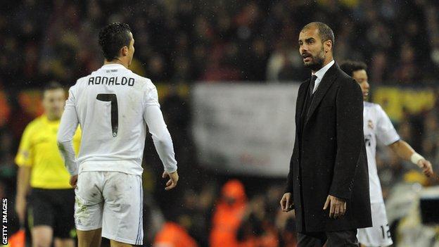 Cristiano Ronaldo and Pep Guardiola