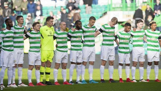 Celtic players pay tribute to Liam Miller