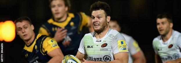 Duncan Taylor suffered a brain injury against Wasps in January of last year