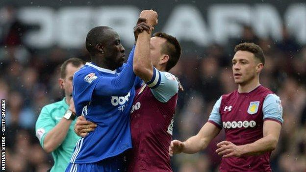 All Cheikh Ndoye's private dance with John Terry earned him was a red card from referee Peter Bankes