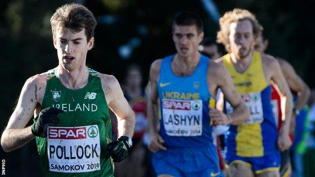 Paul Pollock in action at last year's European Cross Country Championships in Bulgaria
