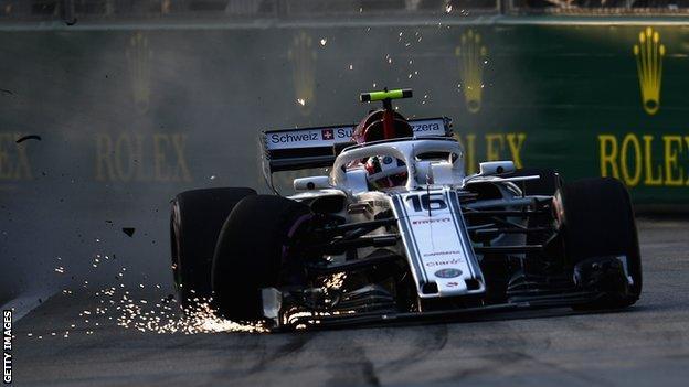 Sauber's Charles Leclerc