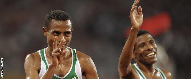 Kenenisa Bekele and Haile Gebrselassie