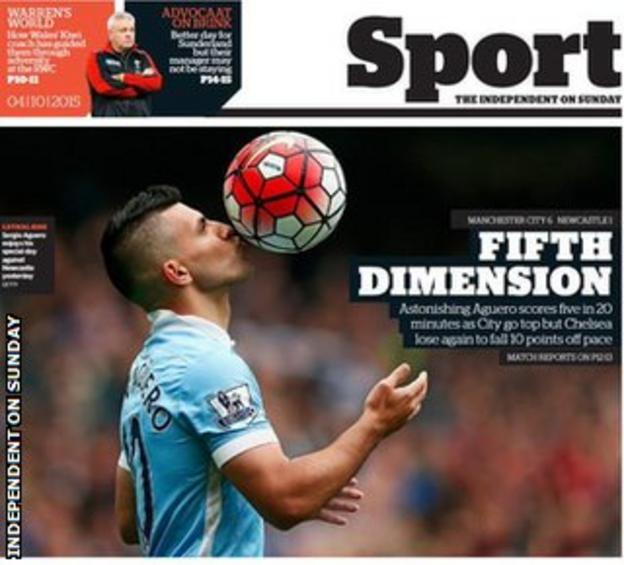 Independent on Sunday back page