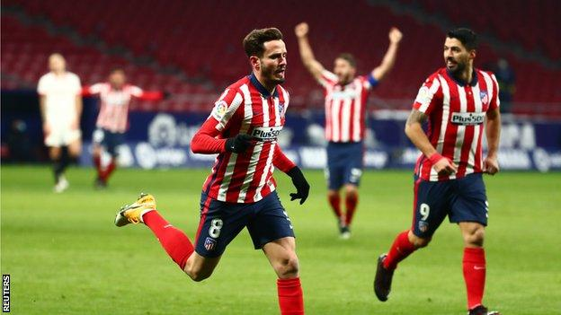Atletico Madrid 2 0 Sevilla Diego Simeone S Side Extend La Liga Lead Bbc Sport