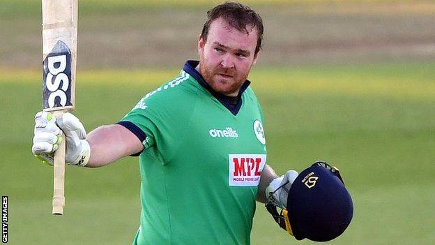 Paul Stirling hit 285 runs in Ireland's ODI series against Afghanistan
