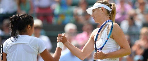 Zarina Diyas and Maria Sharapova