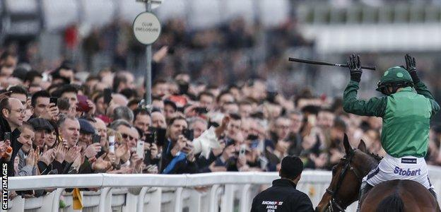 Walsh was a popular winner with the crowds at Cheltenham