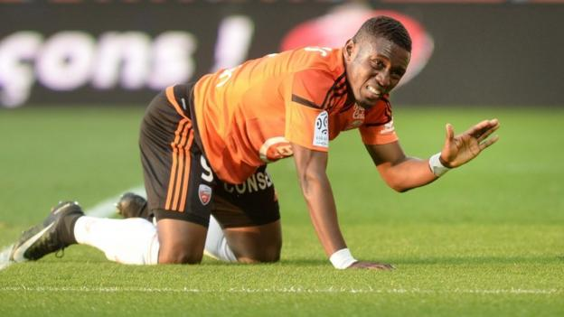 Lorient's Ghanaian forward Abdul Majeed Waris