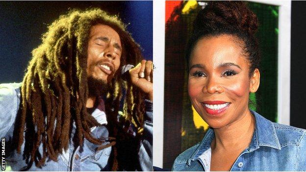 Bob Marley and daughter Cedella Marley