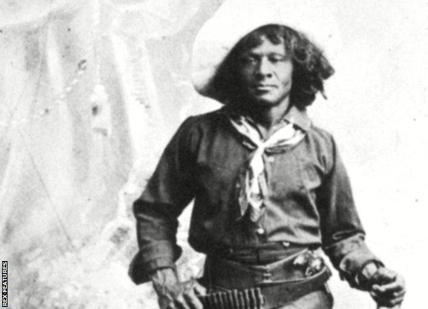 Nat Love - born in 1854, also known as 'Deadwood Dick', an African American cowboy