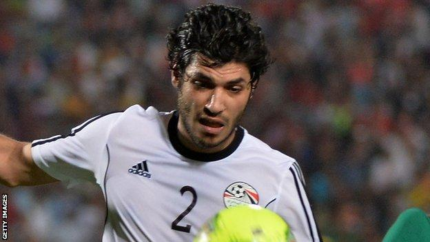 Egypt player Ali Gaber
