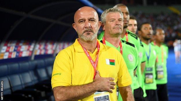 Madagascar's French coach Nicolas Dupuis