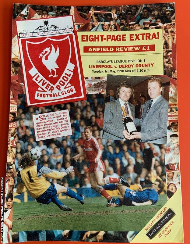 Liverpool v Derby programme from 1 May 1990