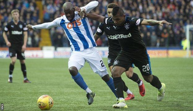 Kilmarnock midfielder Youssouf Mulumbu