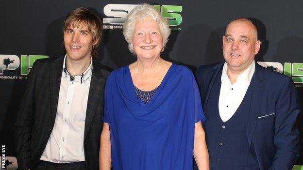 Dame Mary Peters (centre) at last month's BBC Sports Personality of the Year in Belfast