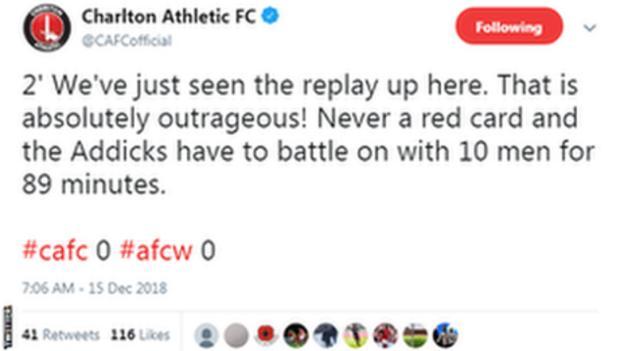 Charlton tweet.
