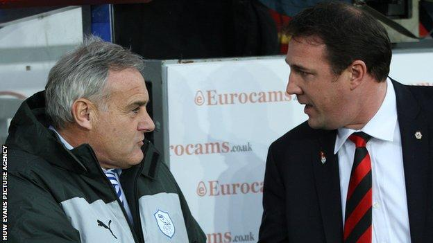 Dave Jones (left) with Malky Mackay