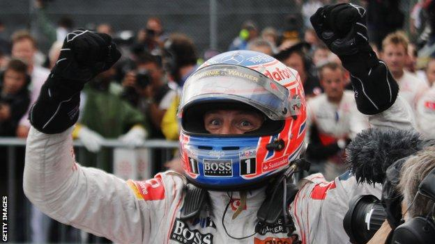 BBC Sport users voted Jenson Button wining the Canadian GP in 2011 as their greatest ever race