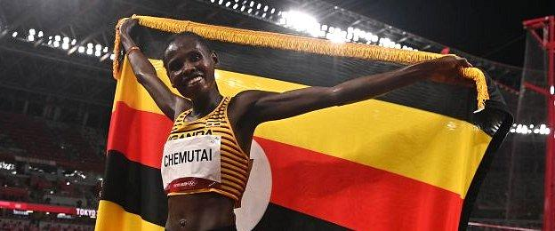 Uganda's Peruth Chemutai, 22, kicked on from her fifth-place finish at Doha 2019 to win gold