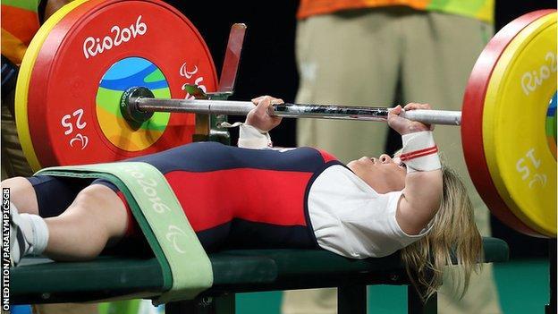 Zoe Newson at the Rio Paralympics