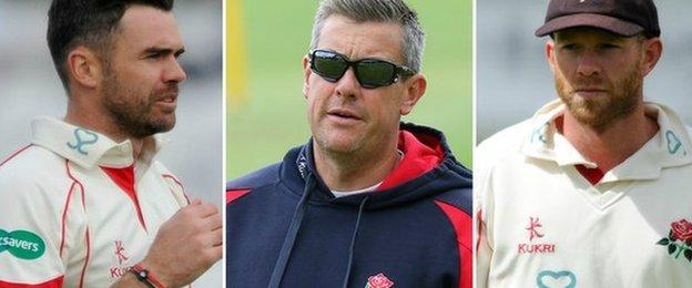 James Anderson, Ashley Giles, and Luke Procter