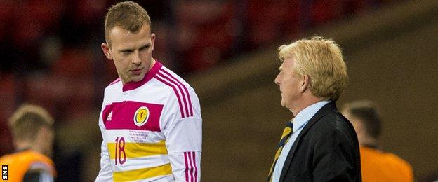 Jordan Rhodes and Gordon Strachan