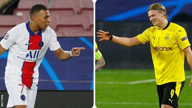 Kylian Mbappe and Erling Braut Haaland