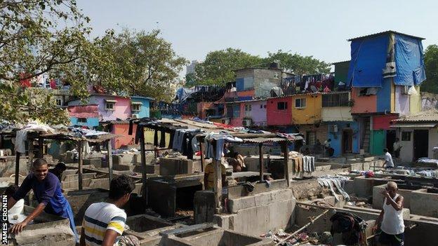 The open-air Dhobi Ghat laundrette