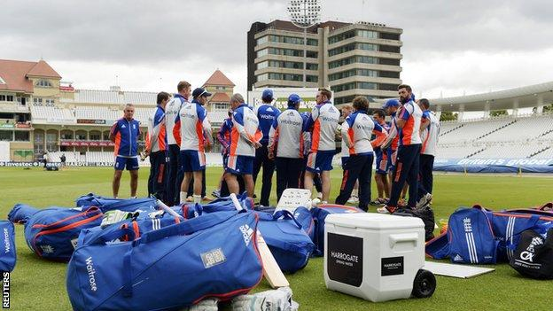England preparing at Trent Bridge