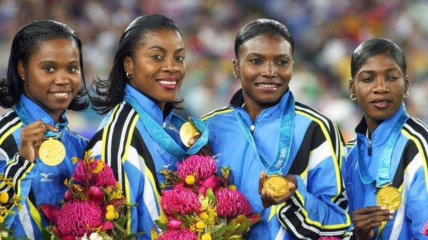 The Bahamas Golden Girls - Sydney 2000 Olympic champions 4 x 100m relay team