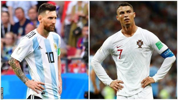 60d118aaa Cristiano Ronaldo and Lionel Messi exit after failing to find World Cup  spark again - BBC Sport