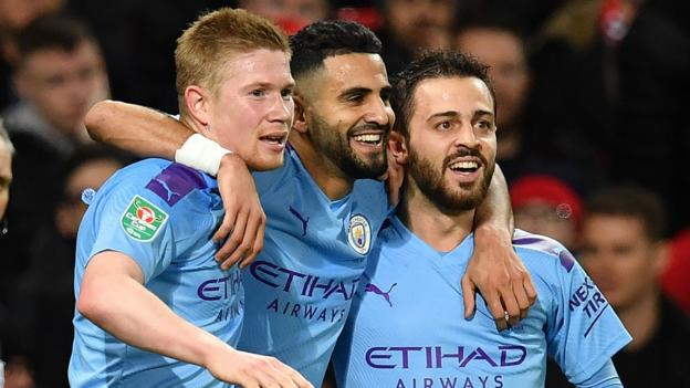 Carabao Cup - Man Utd 1-3 Man City: Holders overwhelm rivals in semi-final first leg thumbnail