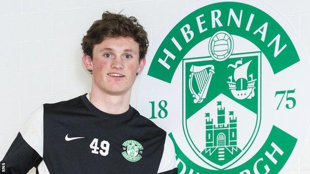 Hibs midfielder Liam Henderson