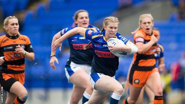 Leeds Rhinos player Tasha Gaines